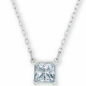 🆕Swarovski Square Cut Pendant Silver Necklace